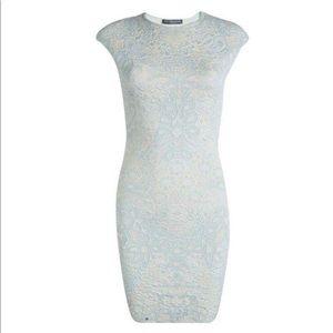 Alexander McQueen PowderBlue Jacquard Knit Dress
